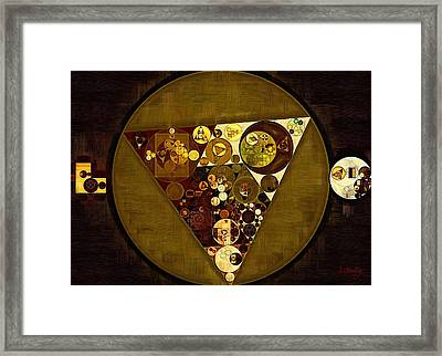 Abstract Painting - Golden Sand Framed Print by Vitaliy Gladkiy
