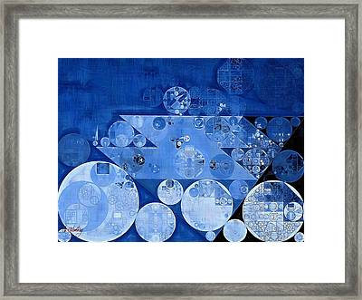 Abstract Painting - Havelock Blue Framed Print by Vitaliy Gladkiy