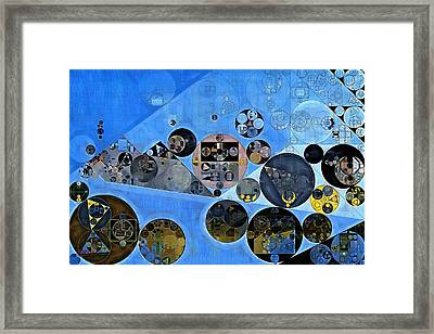 Abstract Painting - Tufts Blue Framed Print by Vitaliy Gladkiy