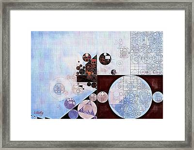 Abstract Painting - Zumthor Grey Framed Print by Vitaliy Gladkiy