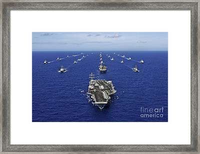 Aircraft Carrier Uss Ronald Reagan Framed Print by Stocktrek Images