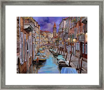 Quasi L'alba Framed Print by Guido Borelli