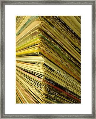 Albums II Framed Print by Anna Villarreal Garbis