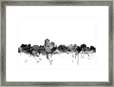 Albuquerque New Mexico Skyline Framed Print by Michael Tompsett