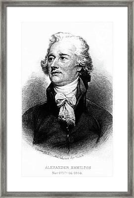Alexander Hamilton Framed Print by John Trumbull