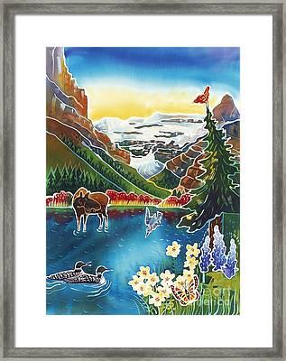 Alpine Lake Sunrise Framed Print by Harriet Peck Taylor