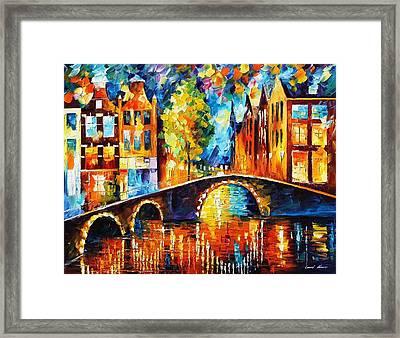 Amsterdam Framed Print by Leonid Afremov