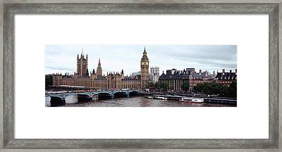 Arch Bridge Across A River, Westminster Framed Print by Panoramic Images