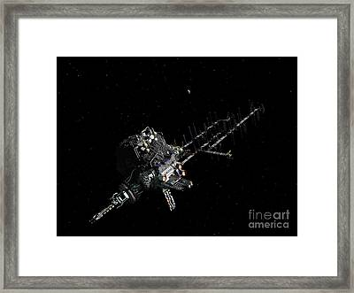 Asteroid Mining Outpost Framed Print by Walter Myers