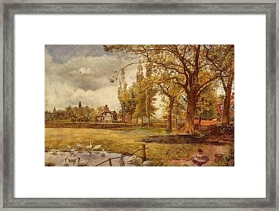 At Hale, Lancashire Framed Print by William Davis