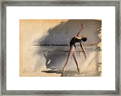 At The Barre Framed Print by H James Hoff