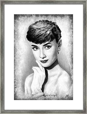 Audrey Hepburn Framed Print by Andrew Read