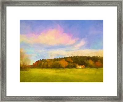 Autumn Landscape Framed Print by Lutz Baar