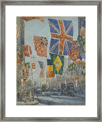 Avenue Of The Allies Framed Print by Childe Hassam
