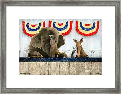 Backroom Politics... Framed Print by Will Bullas