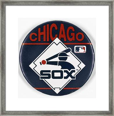 Baseball Button Framed Print by Granger