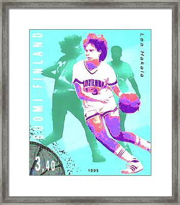Basketball Framed Print by Lanjee Chee