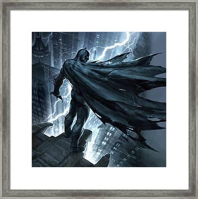 Batman The Dark Knight Returns 2012 Framed Print by Caio Caldas