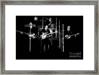 Beatles In Concert 1964 Framed Print by Larry Mulvehill