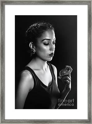 Beauty Portrait Framed Print by Amanda Elwell