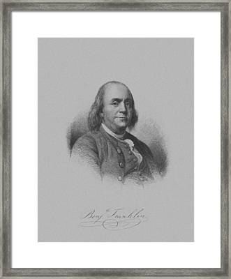 Benjamin Franklin Framed Print by War Is Hell Store