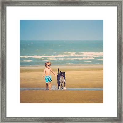 Best Friends Framed Print by Wim Lanclus
