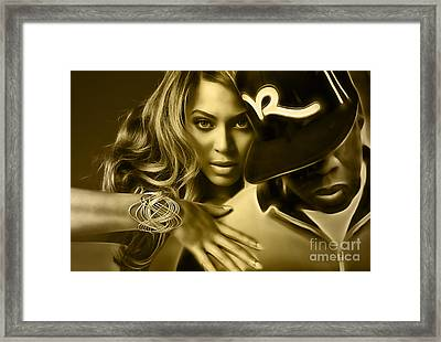 Beyonce Jay Z Collection Framed Print by Marvin Blaine