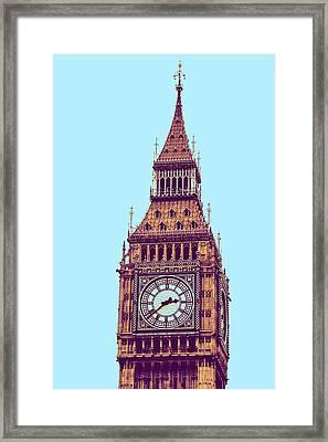 Big Ben Tower, London  Framed Print by Asar Studios