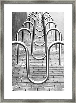 Bike Racks Framed Print by Tom Gowanlock