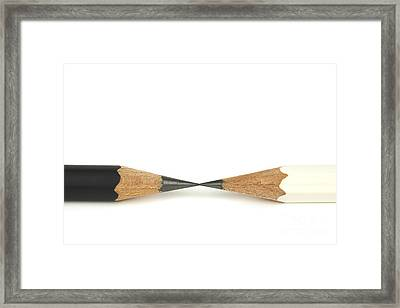 Black And White Pencils Framed Print by Blink Images