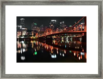 Black Night In Pittsburgh Framed Print by Frozen in Time Fine Art Photography