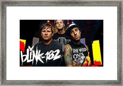 Blink 182 Collection Framed Print by Marvin Blaine
