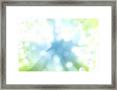 Blue Green Explosion Framed Print by Les Cunliffe
