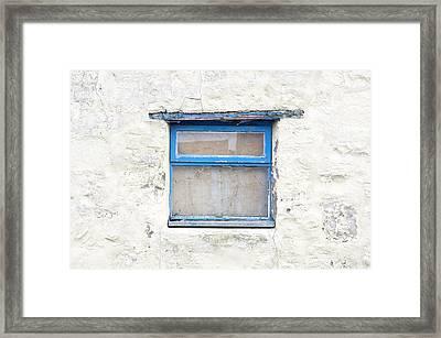 Blue Window Framed Print by Tom Gowanlock
