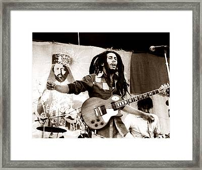 Bob Marley 1979 Framed Print by Chris Walter