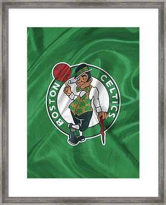 Boston Celtics Framed Print by Afterdarkness