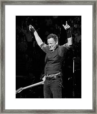 Bruce Springsteen Framed Print by Jeff Ross