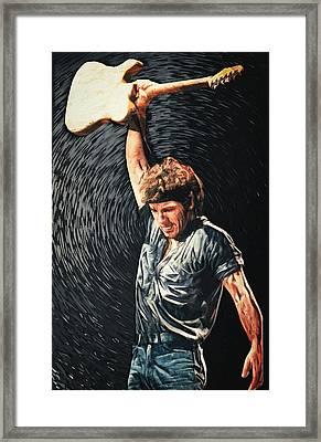Bruce Springsteen Framed Print by Taylan Soyturk