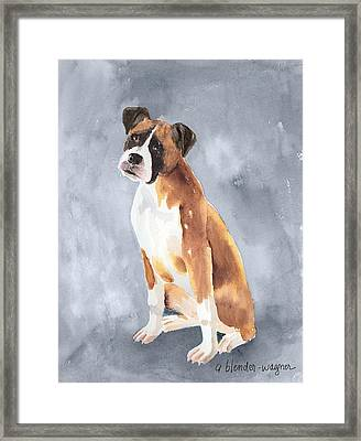 Buddy Framed Print by Arline Wagner