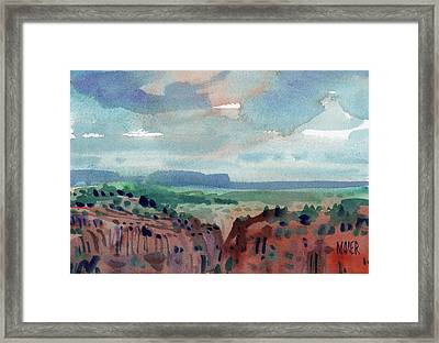 Canyon Overlook Framed Print by Donald Maier