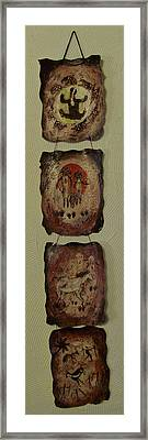 Cave Art Wall Hanging Framed Print by Shelley Bain