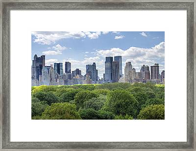 Central Park South Framed Print by Ariane Moshayedi