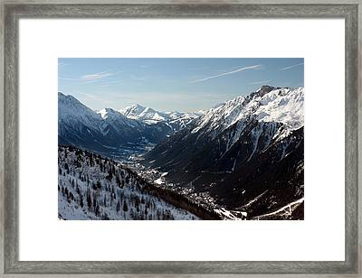 Chamonix Resort In The French Alps Framed Print by Pierre Leclerc Photography
