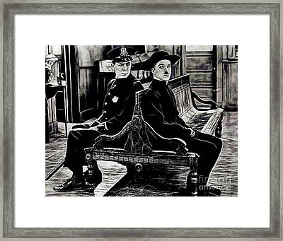 Charlie Chaplin Collection Framed Print by Marvin Blaine