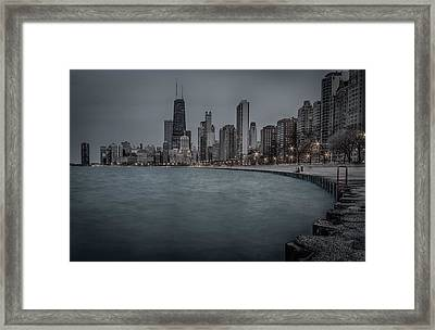 Chicago Skyline Framed Print by Mike Burgquist