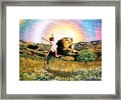 Child Like Faith Framed Print by Dolores Develde