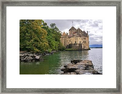 Chillon Castle Switzerland Framed Print by Yefim Bam