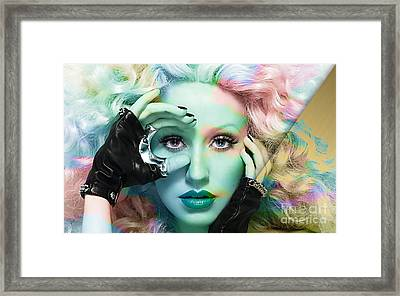Christina Augilera Collection Framed Print by Marvin Blaine