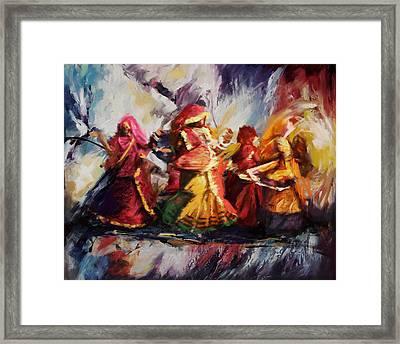 Classical Dance Art 16 Framed Print by Maryam Mughal