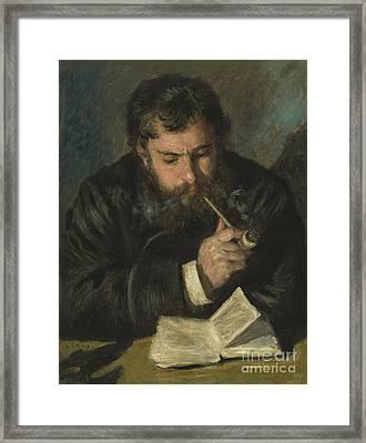 Claude Monet Framed Print by Pierre Auguste Renoir